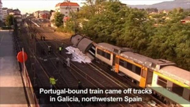รถไฟตกรางในสเปน ตายเพิ่มเป็น4ศพบาดเจ็บครึ่งร้อย
