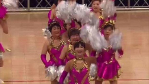 ญี่ปุ่นจัดแข่งเชียร์ลีดเดอร์ผู้สูงวัย