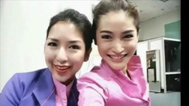 พลอย พลอยพรรณ สวยสตรอง ในมาดแอร์โฮสเตสสาว จากการบินไทย