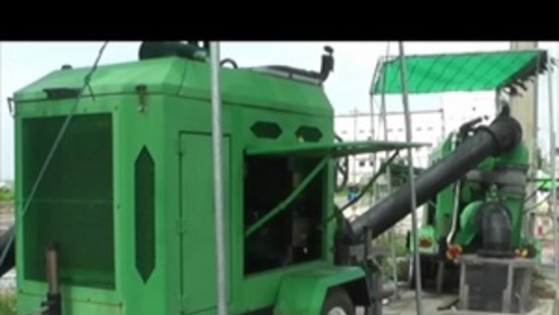 Sakorn News : เทศบาลบางปู ดูแลระบบเครื่องสูบน้ำ เร่งระบายน้ำจากถนนพุทธรักษา
