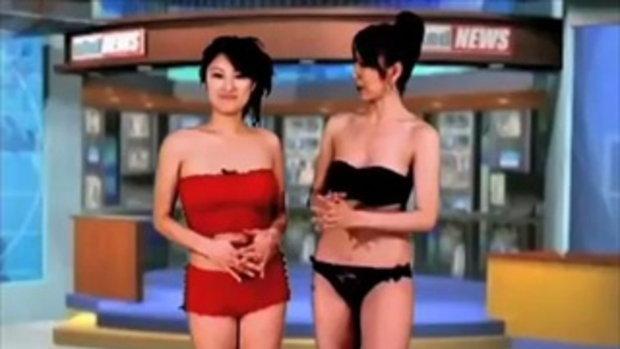 หนุ่มๆ สุดซี๊ด คลิปผู้ประกาศข่าวสาวเปลือยเซ็กซี่จากญี่ปุ่น