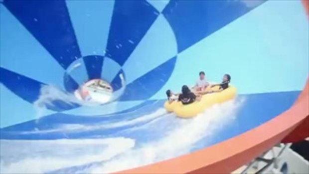 แนท ควง จีน่า ตะลุยความมันส์ @ Santorini Park Waterventures