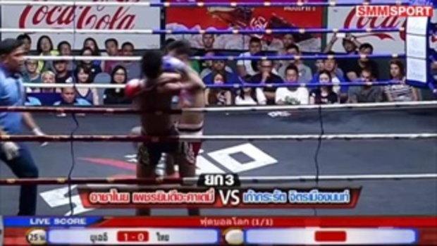 คู่มันส์ มวยไทย : อาชาไนย เพชรยินดีอะคาเดมี่ vs เก้ากะรัต จิตรเมืองนนท์
