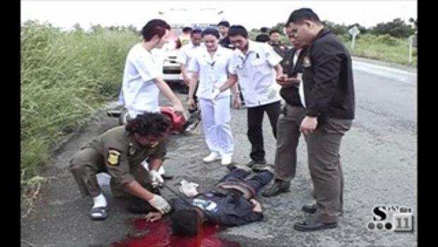 Sakorn News : รถจักรยานยนต์พลิกคว่ำเสียชีวิต
