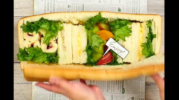 Surprise Bread ซุปเปอร์แซนวิชสำหรับปิคนิค