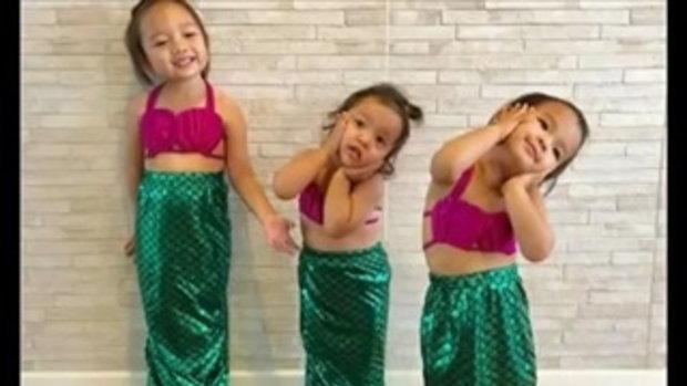 น่ารักมาก!! น้องปีใหม่ ลูกสาว แอฟ สงกรานต์ ในชุดนางเงือกน้อย!