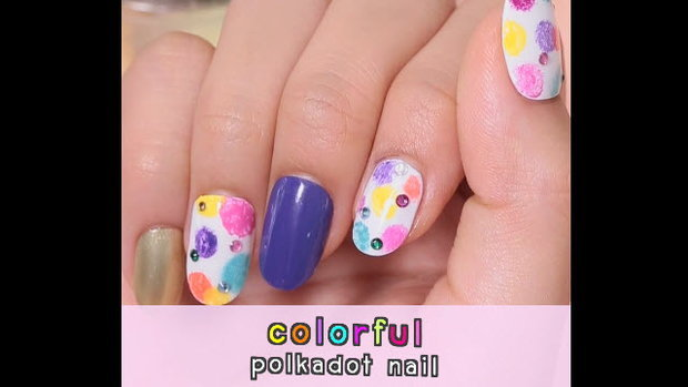 Colorful polkadot nail เล็บลายจุดสดใส