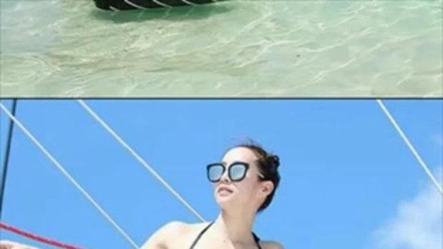 วีเจจ๋า สวยซ่าท้าแดด โชว์ความแซ่บเล่นน้ำ ลั้ลลา ณ เกาะเฮ