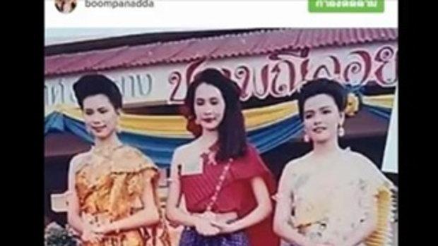 """ใช่เธอจริงหรอเนี่ย ! สาวชุดไทยสีส้ม """"ประกวดนางนพมาศ"""" คือดาราสาวตัวแม่คนนี้ !"""