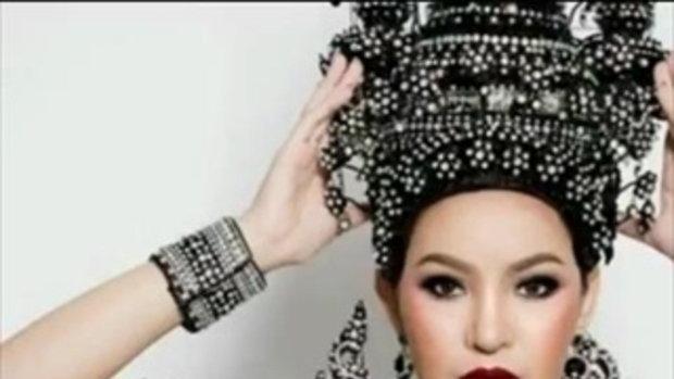 สะกดทุกสายตา ! ชุดประจำชาติไทย ที่ได้แรงบันดาลใจจาก เจดีย์สามองค์