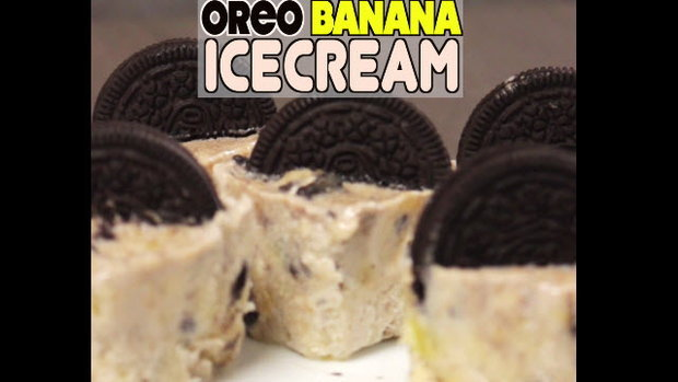Oreo Banana Ice-Cream ไอศกรีมโอรีโอ้บานาน่า