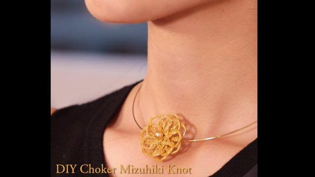 DIY Choker Mizuhiki Knot โชคเกอร์เชือกมัดแบบญี่ปุ่น