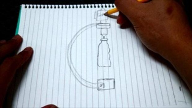 How to make # DIY gopro stabilizer อุปกรณ์ลดการสั่น EP1