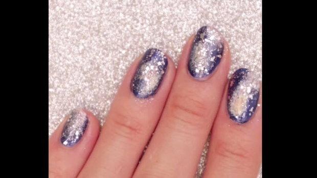 Easy Galaxy nail เล็บกาแลคซี่