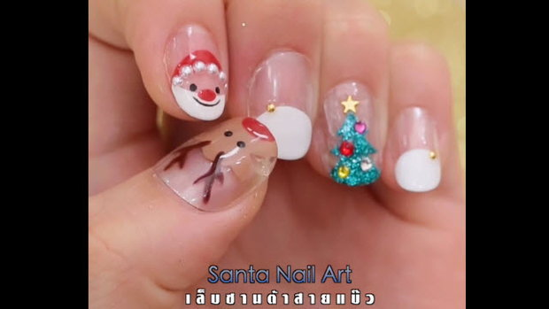 Santa Nail Art เล็บซานตาสายแบ๊ว