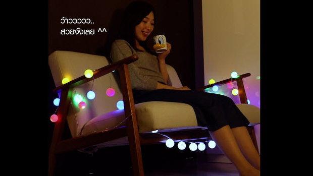 โคมไฟปิงปอง แต่งห้องธรรมดา เป็นอินดี้คาเฟ่ (Ping-pong lamp)