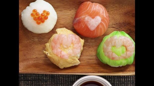 คาวาอี้ซูชิบอล ซูชิหัวใจหลากสี (Kawaii Sushi Ball)