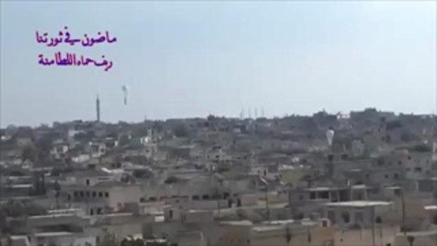 วินาทีรัสเซียทิ้งจรวดถล่มพื้นที่กบฏของซีเรีย เสียงระเบิดดังกึกก้อง