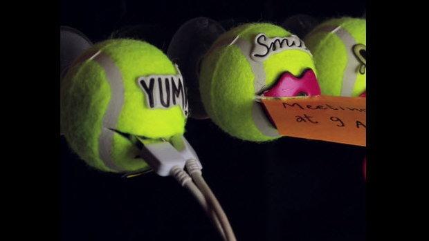 แปลงร่างลูกเทนนิสเป็นตัวจุ๊บหลากประโยชน์