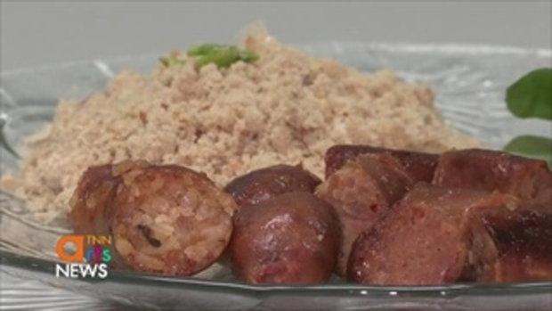 ไส้กรอกปลาแนมแม่เล็ก  อาหารโบราณขายกว่า 50 ปี