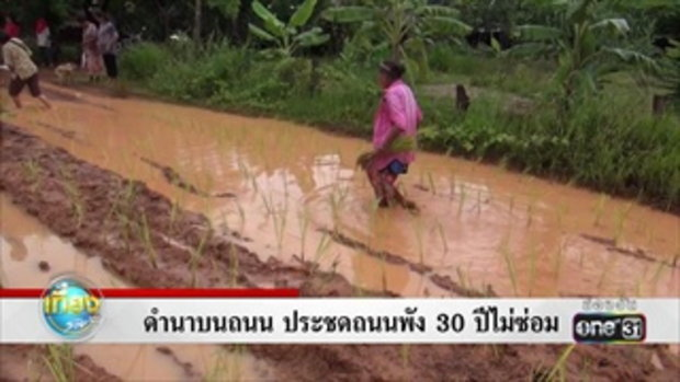 ดำนาบนถนน ประชดถนนพัง 30 ปีไม่ซ่อม   ข่าวช่องวัน   one31
