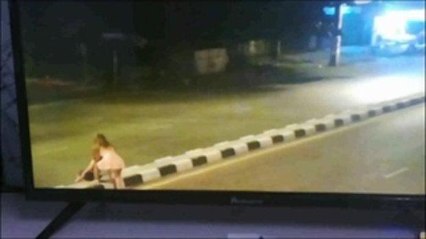 CCTVจับภาพวินาทีรถข้ามเกาะกลางพุ่งชนร้านแก๊สหาดใหญ่ไฟไหม้เจ็บ3