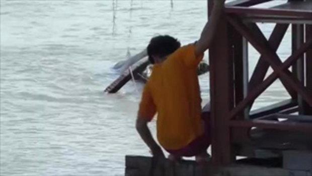 ชาวบ้านตกใจ !! ควายเขางาม หลุดลงแม่น้ำ ช่วยจับวุ่น พบเพิ่งไถ่ชีวิตจากโรงเชือด