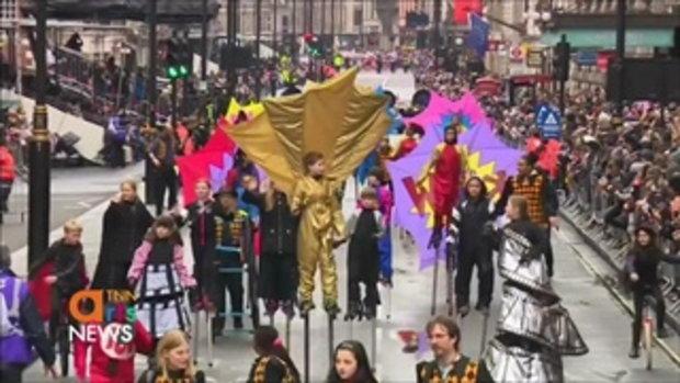 กรุงลอนดอนจัดพาเหรดรับปีใหม่