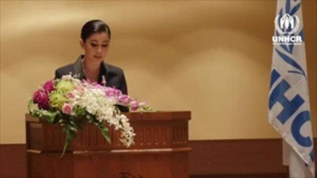 ปู ไปรยาในการขึ้นรับตำแหน่งทูตสันถวไมตรี UNHCR คนแรกของประเทศไทย