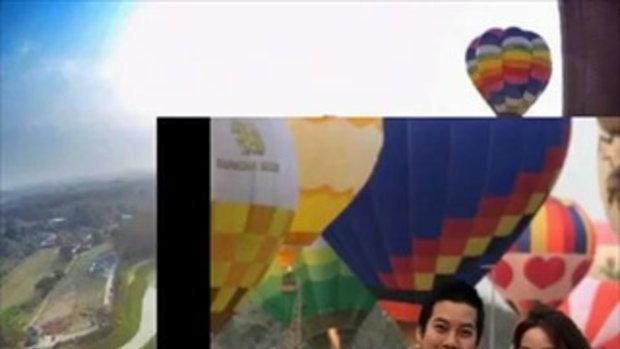 โรแมนติกเว่อร์ ! เชน ธนา ควงภรรยา เจมส์ กณิการ์ ขึ้นบอลลูนจดทะเบียนสมรส