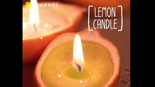 เทียนเลม่อน (Lemon candle)
