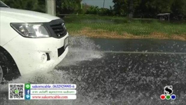 Sakorn News : น้ำทะเลหนุนท่วมถนนสุขุมวิท