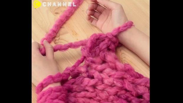 ผ้าพันคอทอมือ