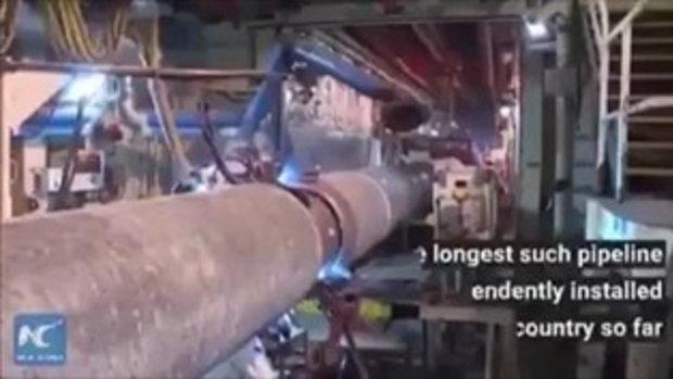 สำเร็จ จีนสร้างท่อส่งก๊าซธรรมชาติใต้ทะเลยาวที่สุดในโลก