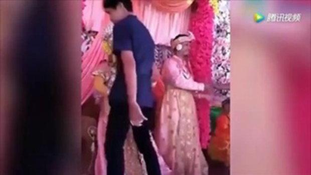 เจ้าสาวสุดช้ำ ร้องไห้จนเป็นลม หลังโดนบังคับแต่งงานกับชายอื่น