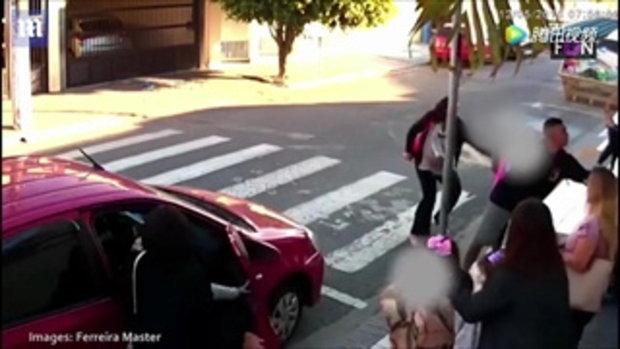 หนุ่มบราซิลปล้นหน้าโรงเรียน ผู้ปกครองหญิงควักยืนยิงสวน 3 นัด ดับ