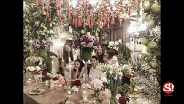 เซอร์ไพรส์วันเกิด ซาร่า เล็กจ์ สุดโรแมนติกดุจงานแต่ง รายล้อมด้วยดอกไม้