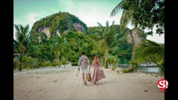 เหมือนถ่ายพรีเวดดิ้ง เนย เนโกะจัมพ์ ภาพคู่หวานแฟนบนเกาะ
