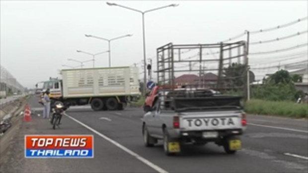 คืบหน้า อุบัติเหตุรถบรรทุกน้ำมันชนกับรถตู้และรถกระบะ รวม 5 คัน เสียชีวิต 6 ราย