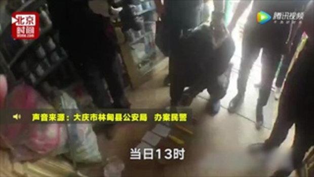 วัยรุ่นจีนเจอย่าซัดฝ่ามืออรหันใส่หน้า 3 ครั้งติด หลังรู้ข่าวถือมีดปล้นร้านค้า