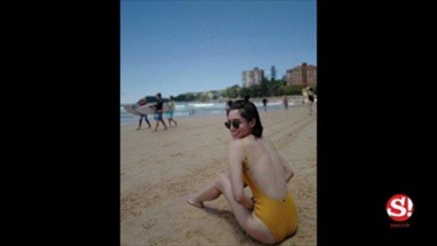 จ๊ะ จิตตาภา ควงสามีเช็คอินซิดนีย์ อวดหุ่นแซ่บริมชายหาด
