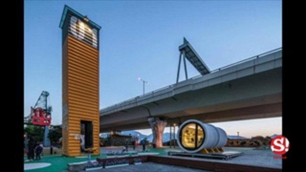 OPod Tube House เปลี่ยนท่อน้ำคอนกรีตเป็นบ้านบนพื้นที่แคบในฮ่องกง