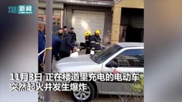 รถจักรยานไฟฟ้าระเบิด แม่ปกป้องลูกจนตัวตาย สุดเศร้าหนูน้อยเจ็บหนักสิ้นใจตาม