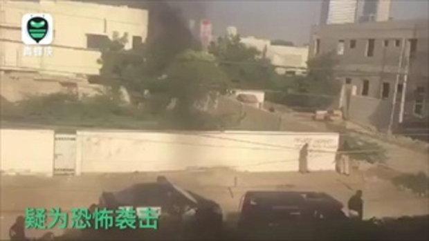 มือระเบิดพลีชีพโจมตีสถานกงสุลจีนในปากีสถาน ตำรวจดับ 2