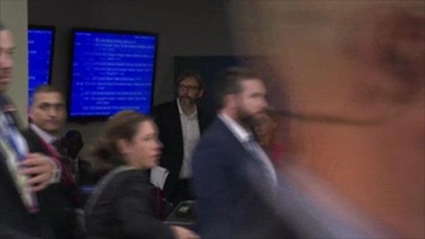 เกรียตา ธุนแบร์ มองแรง! ขณะทรัมป์เดินผ่านในตึกยูเอ็น หลังขึ้นเวทีพูดหักหน้าผู้นำโลก