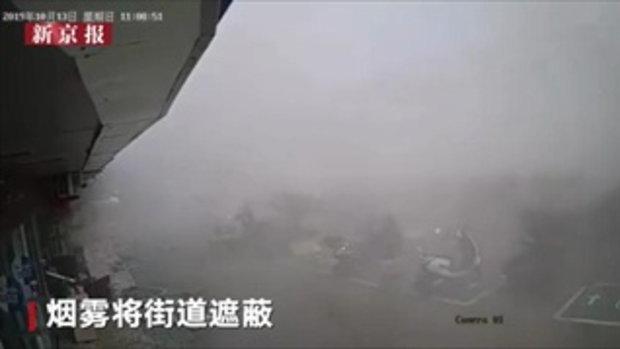 ภาพวินาทีหายนะ! แก๊สระเบิดใจกลางเมืองอู๋ซี ตาย 6 ศพ เจ็บระนาว