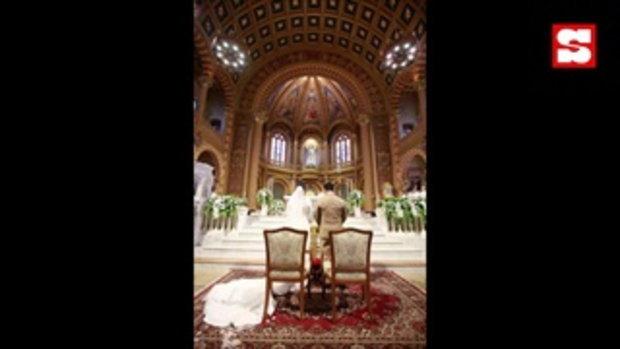 ภาพเต็มงานแต่งในโบสถ์ เปาวลี - เอิร์ธ ศักดิ์สิทธิ์ โรแมนติก ซูโม่กิ๊ก ถึงกับเสียน้ำตา