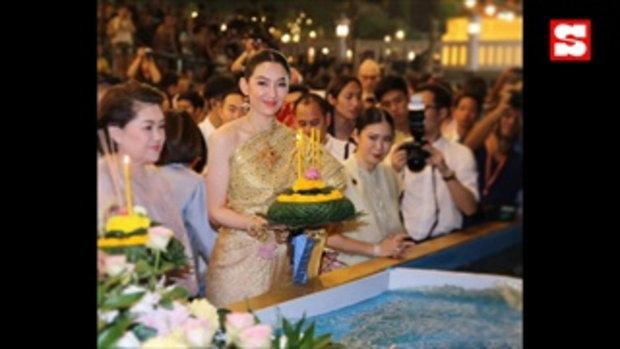 เก็บตกความสวย เหล่าคนดังในชุดไทย ในวันลอยกระทงปี 2562
