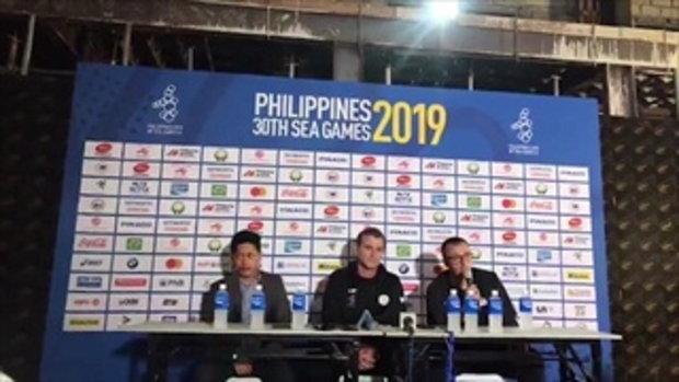อึ้งกันทุกชาติ! ห้องแถลงข่าวหลังเกมฟุตบอลซีเกมส์ 2019