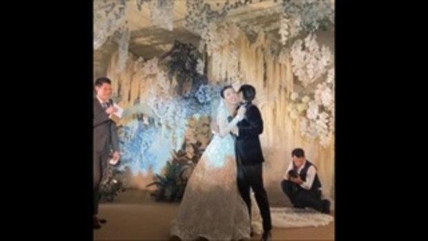 งานแต่ง บี มาติกา-ไฮโซกร บรรยากาศอบอุ่นและซาบซึ้งมาก